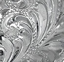Bright Silver Engraved Background