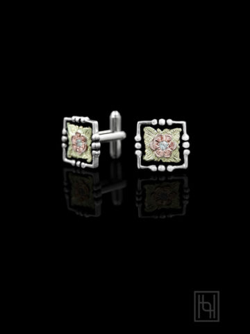 Men's Western Cufflinks with Crystal Clear