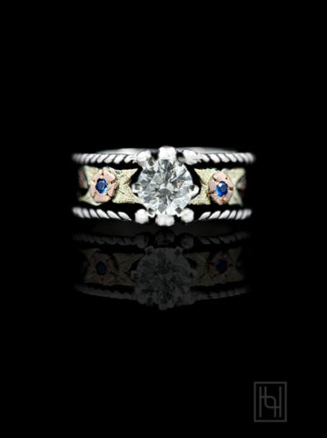Crystal Rope Ring w/ Blue Accents