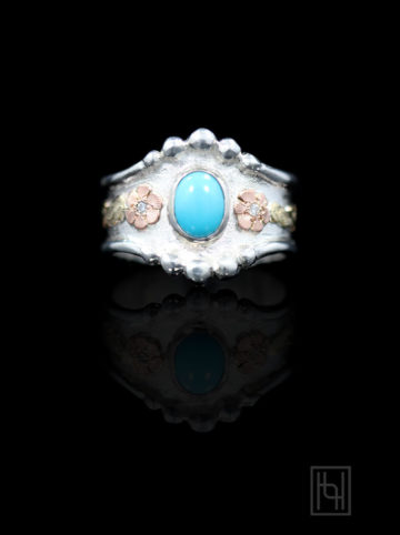 RimRock Turquoise Oyster Ring