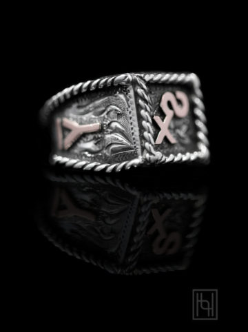 Custom Monogram Ring