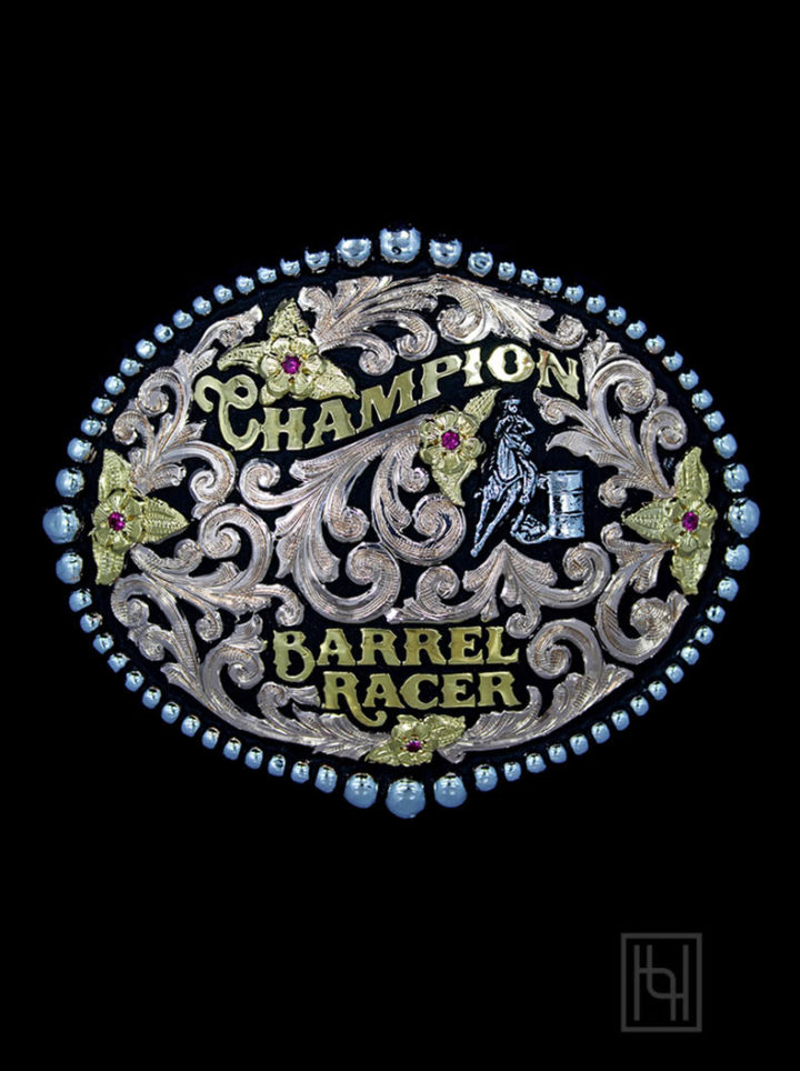 Bareback Riding Champion Trophy Buckle