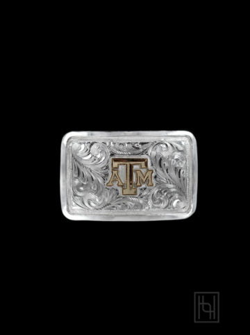 Texas A&M Sterling Silver Dress Buckle