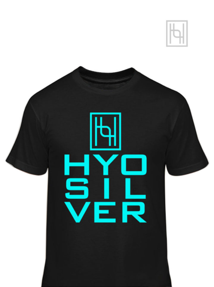 Hyo Silver Jersey Tee Shirt in Black