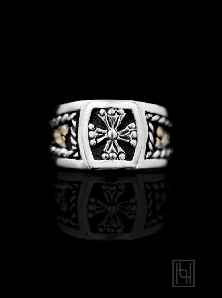 R033- Noble Silver Maltese Ring