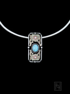 Chichi Turquoise Omega Necklace RRN011