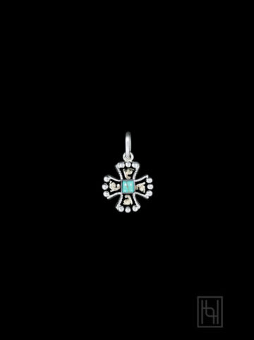 RimRock Chopper Cross Charm w/ Blue Turquoise RRP025